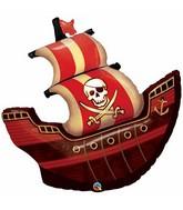 """40"""" Foil Balloon Pirate Ship"""