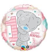 "18"" Tatty Teddy 1st Birthday Girl Balloon"