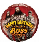 "18"" Duck Dynasty Happy Birthday Boss"