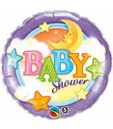 """18"""" Baby Moon & Stars Mylar Balloon"""