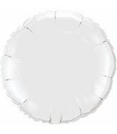 """9"""" Airfill Only White Round Plain Foil Balloon"""