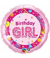 "18"" Birthday Girl Pink Packaged Mylar Balloon"