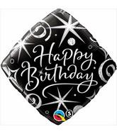 """18"""" Sparkles & Swirls Packaged Mylar Balloon"""