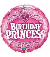 """18"""" Birthday Princess Tiara Balloon"""