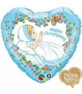 "18"" Happy Christening Boy Precious Moments"