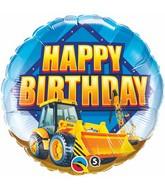 "18"" Birthday Construction Zone Mylar Balloon"