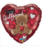 "18"" To My Girlfriend Bear Mylar Balloon"