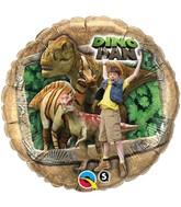 "18"" Dino Dan Dinosaurs Licensed Mylar Balloon Packaged"