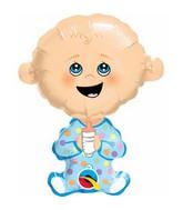 "14"" Airfill Baby Boy Shape Balloon"