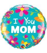 """18"""" I (Heart) You Mom Balloon"""