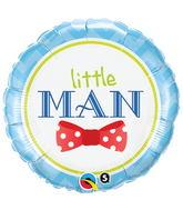 """18"""" Little Man Bow Mylar Balloon"""