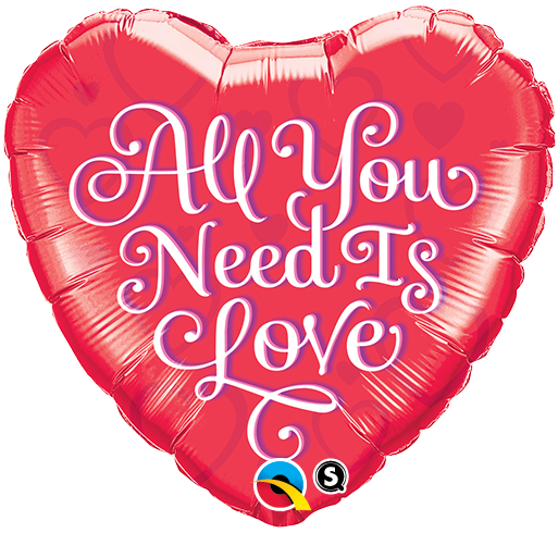 """18"""" All You Need is Love Red Balloon"""