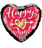"18"" Happy Heart Day Qualatex Balloon"