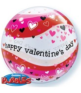"""22"""" Valentine's Day Heart Wave Bubble Balloon"""
