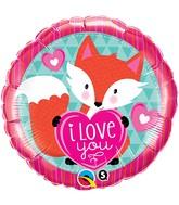 """18"""" Love You Foxy Heart Balloon"""
