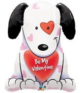 """31"""" Be My Valentine Puppy Balloon"""