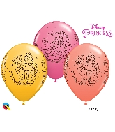 "11"" Assorted 25 Count Disney Princess Belle Latex Balloons"