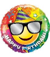 """18"""" Birthday Smiley Foil Balloon"""