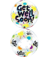 """22"""" Single Bubble Get Well Soon Sunny Day"""