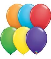 "5"" Bright Rainbow 100 Count Qualatex Latex Balloons"