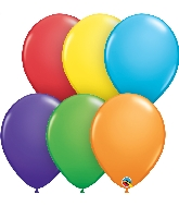 "11"" Bright Rainbow 100 Count Qualatex Latex Balloons"