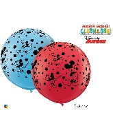 "36"" Red/Blue 02 Count Mickey Mouse Latex Balloons"
