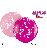 "36"" Pink/Berry 02 Count Minnie Mouse Latex Balloons"