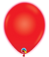 """10"""" Q-Lite Red 5 Count Qualatex Light Up Latex Balloons"""