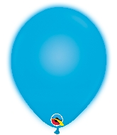 "10"" Q-Lite Blue 5 Count Qualatex Light Up Latex Balloons"