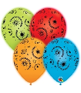 "10"" Q-Lite Special Assorted 4 Count Congratulations Balloons"