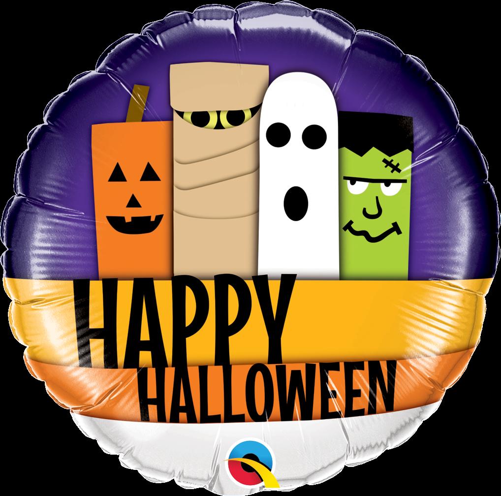"18"" Halloween Line-Up Foil Balloon"