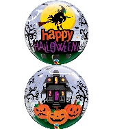 """22"""" Halloween Witch Haunting Bubble Balloon"""