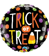 """18"""" Trick Or Treat Dots Foil Balloon"""