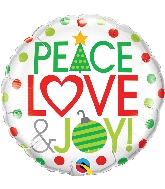 "18"" Love Peace & Joy Foil Balloon"