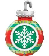 "35"" Snowflake Ornament Foil Balloon"