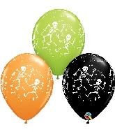 """11"""" Fun Halloween Skeletons Latex Balloon"""