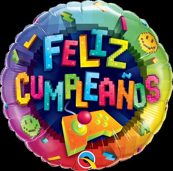 "18"" Feliz Cumpleaños Videogame Foil Balloon"