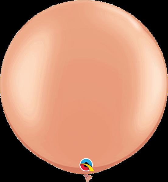 "30"" Qualatex Latex Balloons Metallic Rose Gold 02CT"