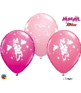 "11"" Disney Minnie Latex Balloons 25 Per Bag"