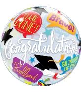 """22"""" Graduation Accolades Bubble Balloon"""