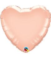 "36"" Pearl Rose Gold Heart Balloon"