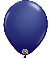 "11"" Qualatex Latex Balloons 25 Per Bag  Navy"