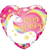 "18"" Birthday Magical Unicorn Foil Balloon"