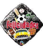 """18"""" Felicidades Sports Foil Balloon"""