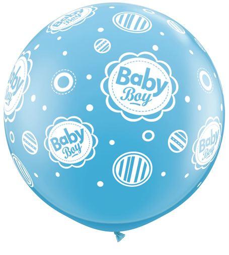 "36"" Pale Blue Baby Boy Dots (2 ct.)"