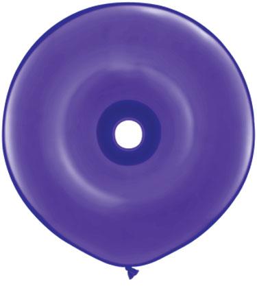 "16"" Geo Donut Latex Balloons (25 Count) Purple Violet"