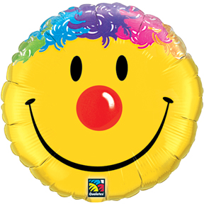 "18"" Smile Face Mylar Balloon"