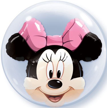 """24"""" Minnie Mouse Licenced Character Double Bubble Balloons"""