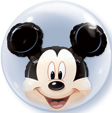 "24"" Mickey Mouse Licenced Character Double Bubble Balloons"