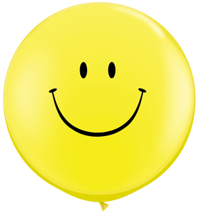 """36"""" Smile Face Yellow w/Black Ink (2 ct.)"""